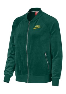 Nike Plus Size Velour Track Jacket