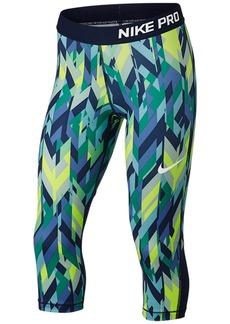 3e9c8079011a1e Nike Nike Pro Dri-fit HyperCool Training Printed Capri Leggings, Big Girls ( 7-16) | Casual Pants