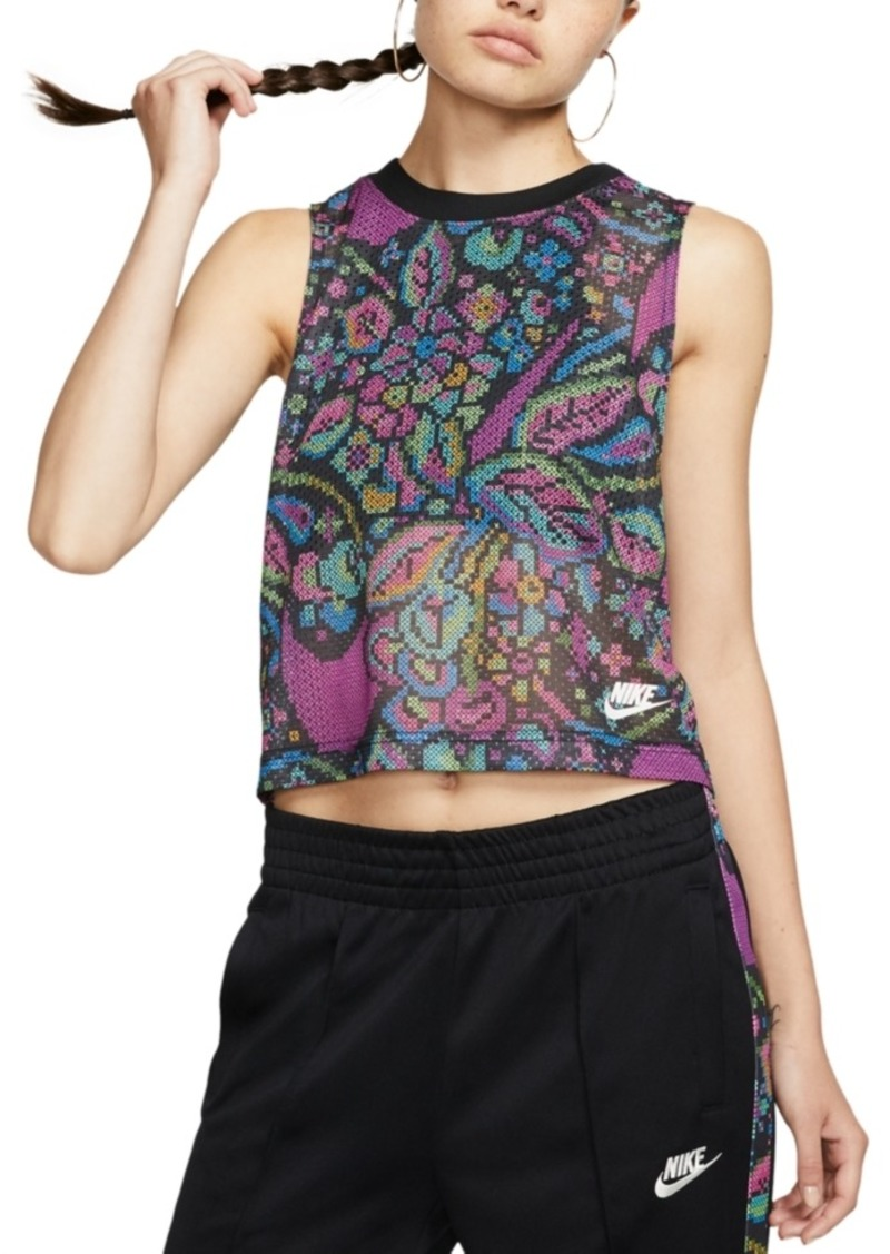 Nike Women's Printed Cropped Tank Top