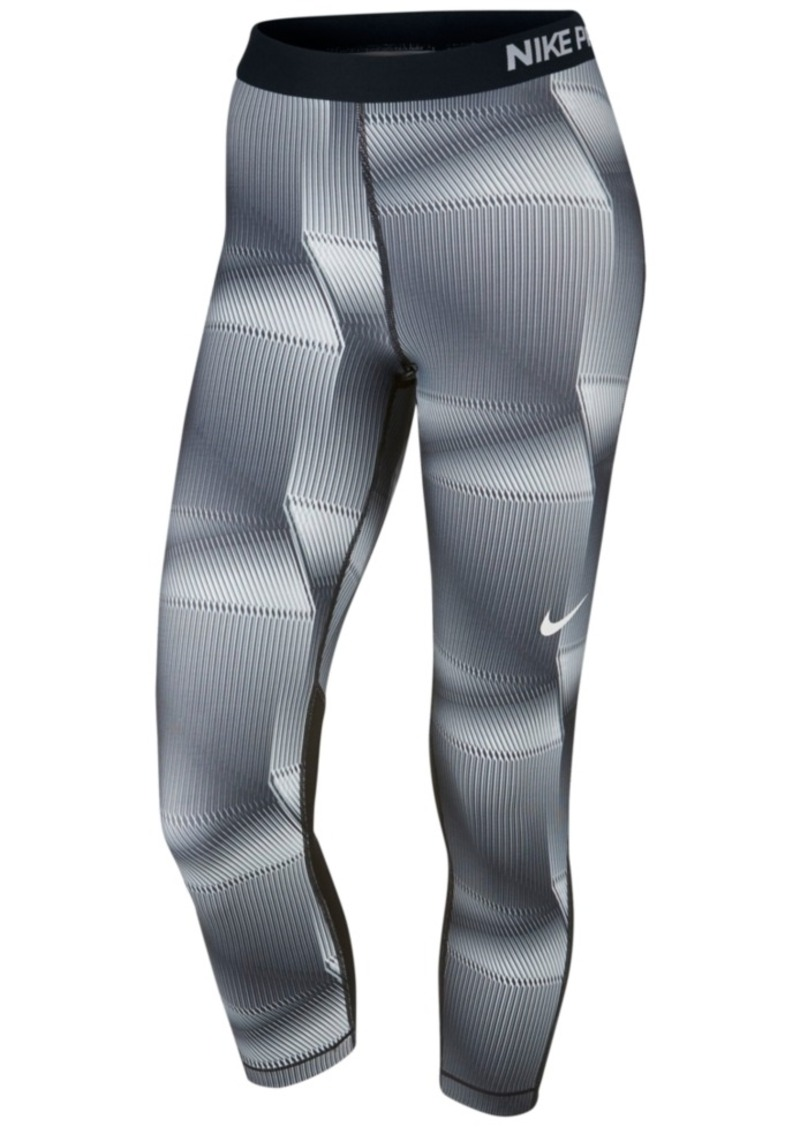 Nike Pro Cool Pyramid-Print Capri Leggings