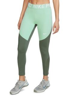 Nike Women's Pro Mesh-Trimmed Leggings