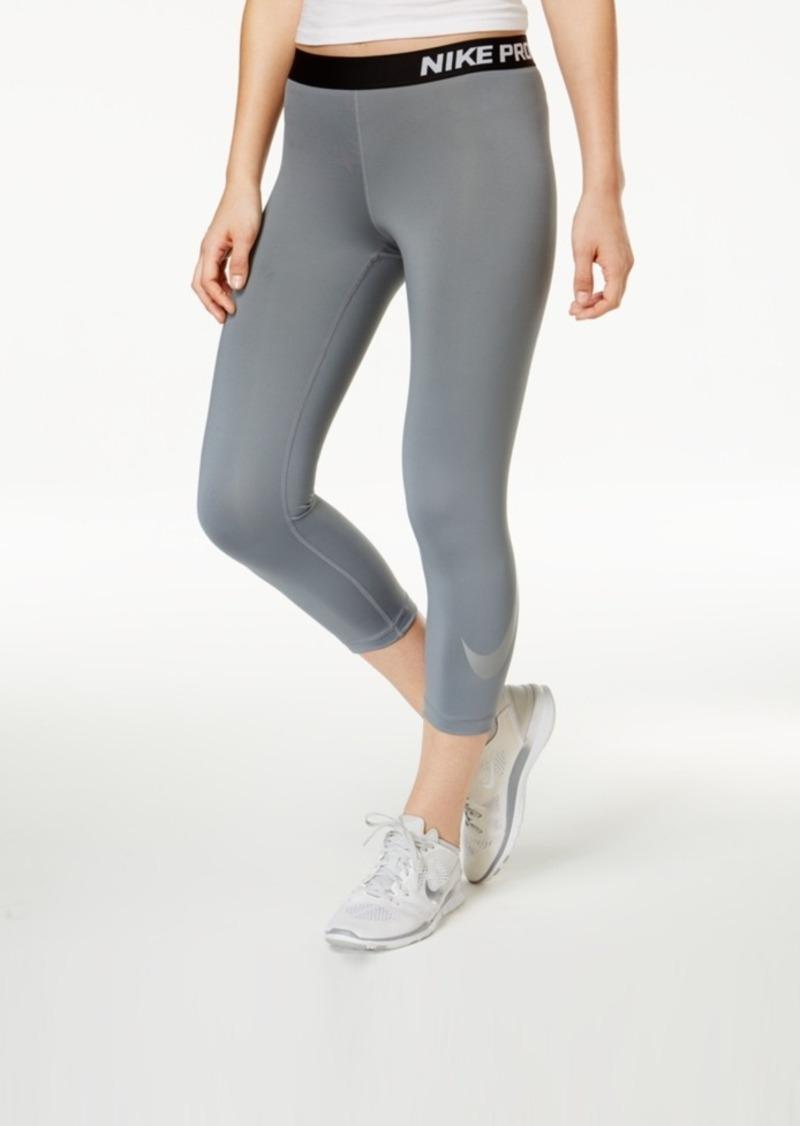 efd43512a4eb1 Nike Nike Pro Metallic Logo Dri-fit Capri Leggings
