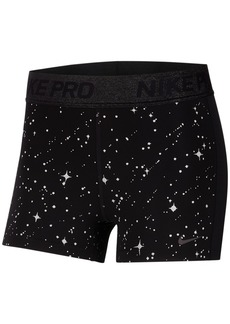Nike Pro Starry Night Dri-fit Metallic-Print Training Shorts