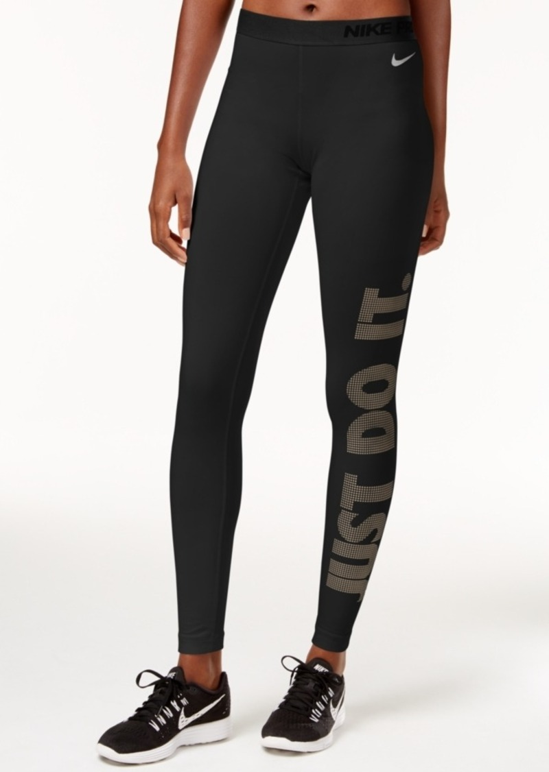 nike nike pro warm just do it dri fit leggings casual pants shop it to me. Black Bedroom Furniture Sets. Home Design Ideas
