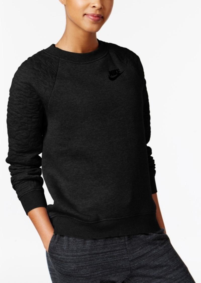 Nike Rally Quilt Sleeve Crewneck Sweatshirt