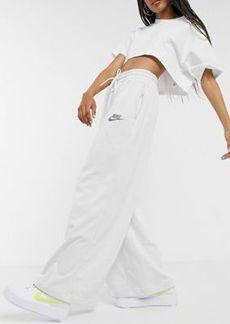 Nike Revival wide leg sweatpants in cream