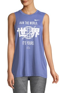 Nike Run the World Dri-FIT Graphic Muscle Tank Top
