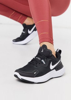 Nike Running React Miler sneakers in black