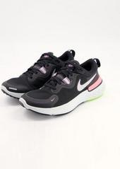 Nike Running React Miler sneakers in black and pink