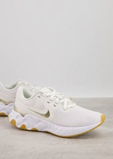 Nike Running Renew Ride 2 sneakers in white