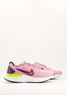 Nike Running Renew Run 2 sneakers in pink