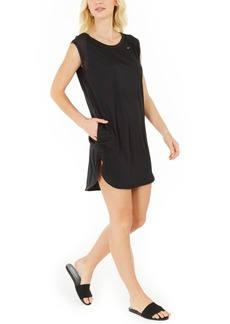 Nike Solid Sleeveless Cover-Up Dress Women's Swimsuit