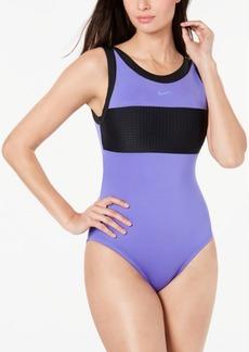 Nike Sport Mesh High-Neck One-Piece Swimsuit Women's Swimsuit
