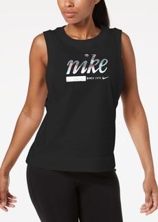 Nike Sportswear Cotton Metallic-Logo Tank Top