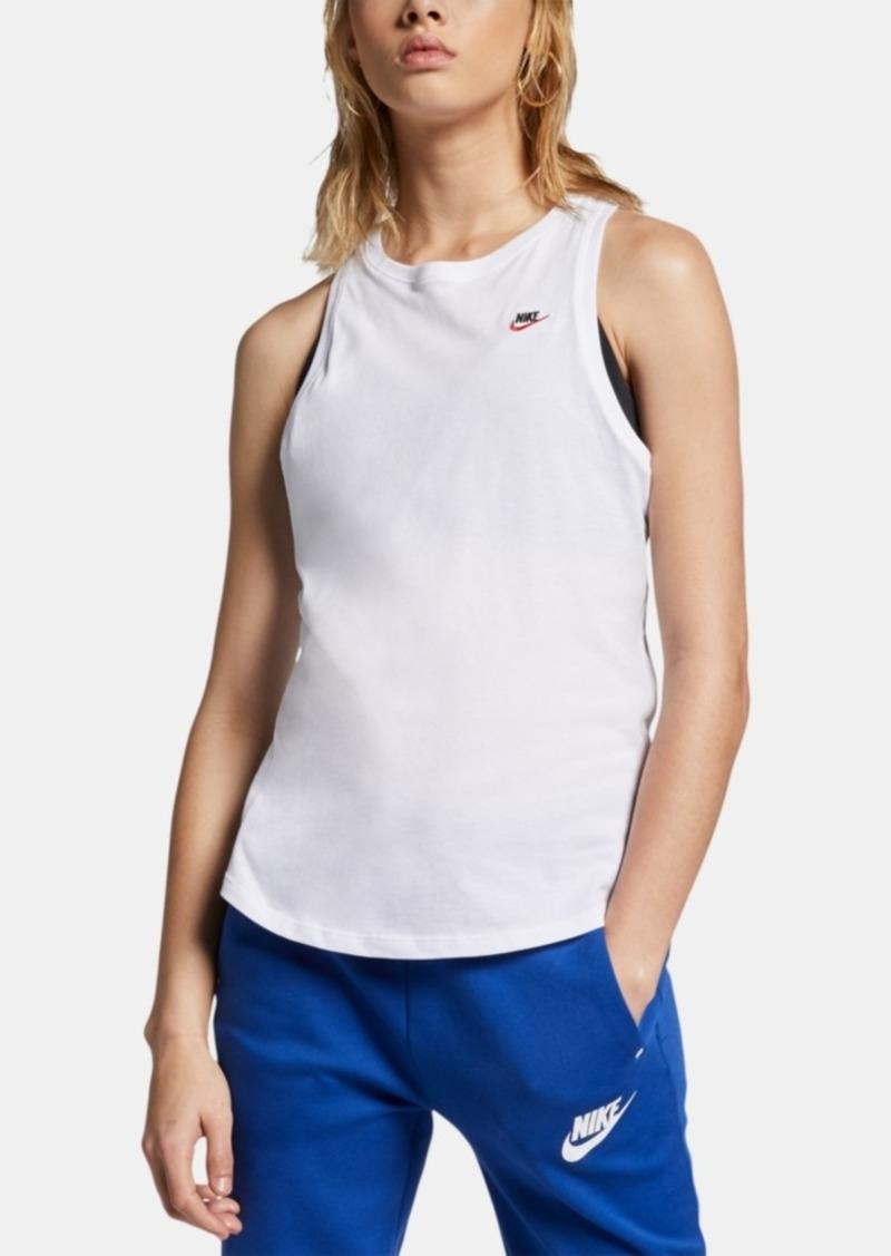Nike Women's Sportswear Cotton Racerback Tank Top