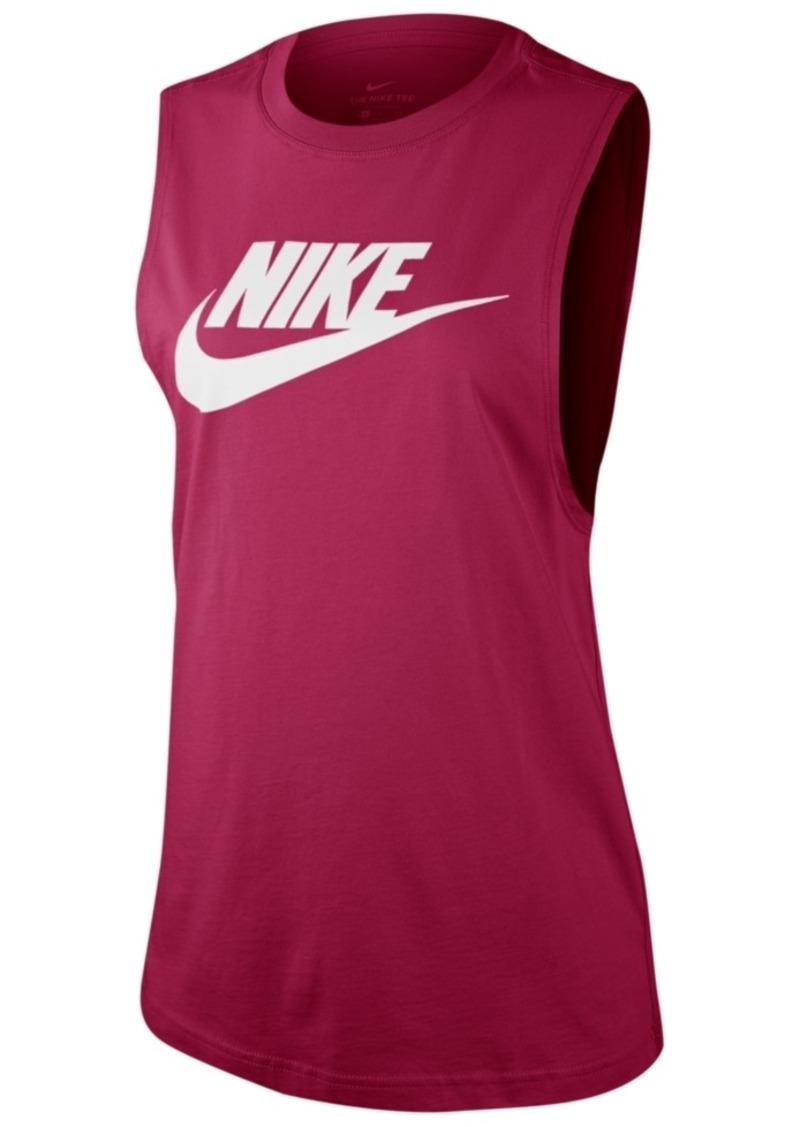 Nike Women's Sportswear Essential Cotton Logo Tank Top