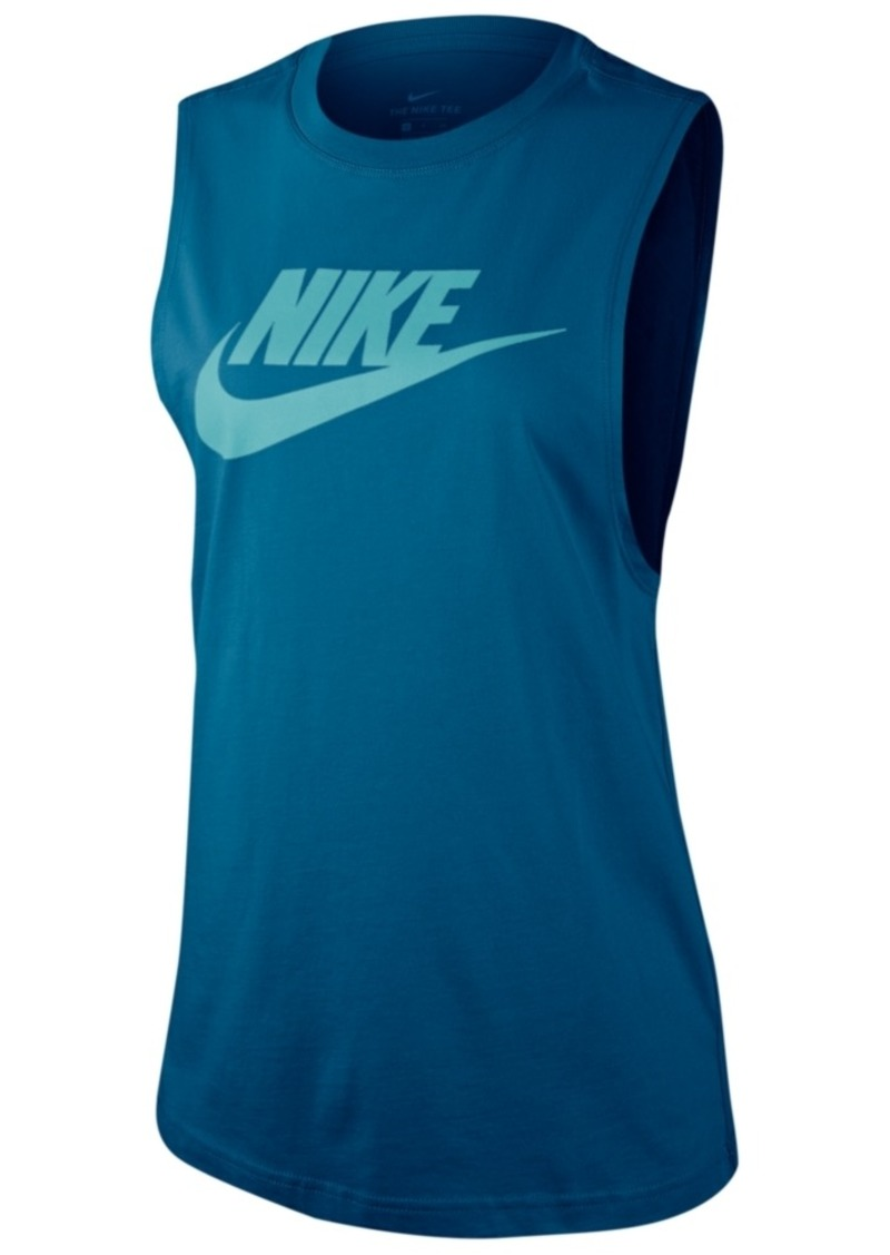 Nike Women's Sportswear Essential Cotton Logo Tank Top