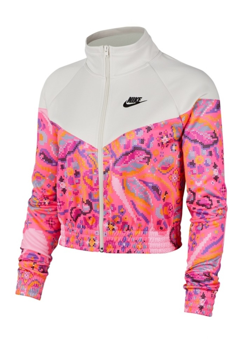 Nike Women's Sportswear Printed Cropped Jacket