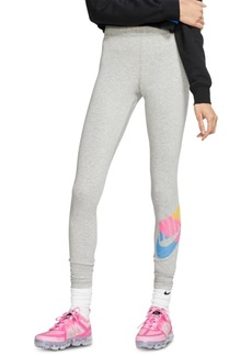 Nike Women's Sportswear Printed-Logo Leggings