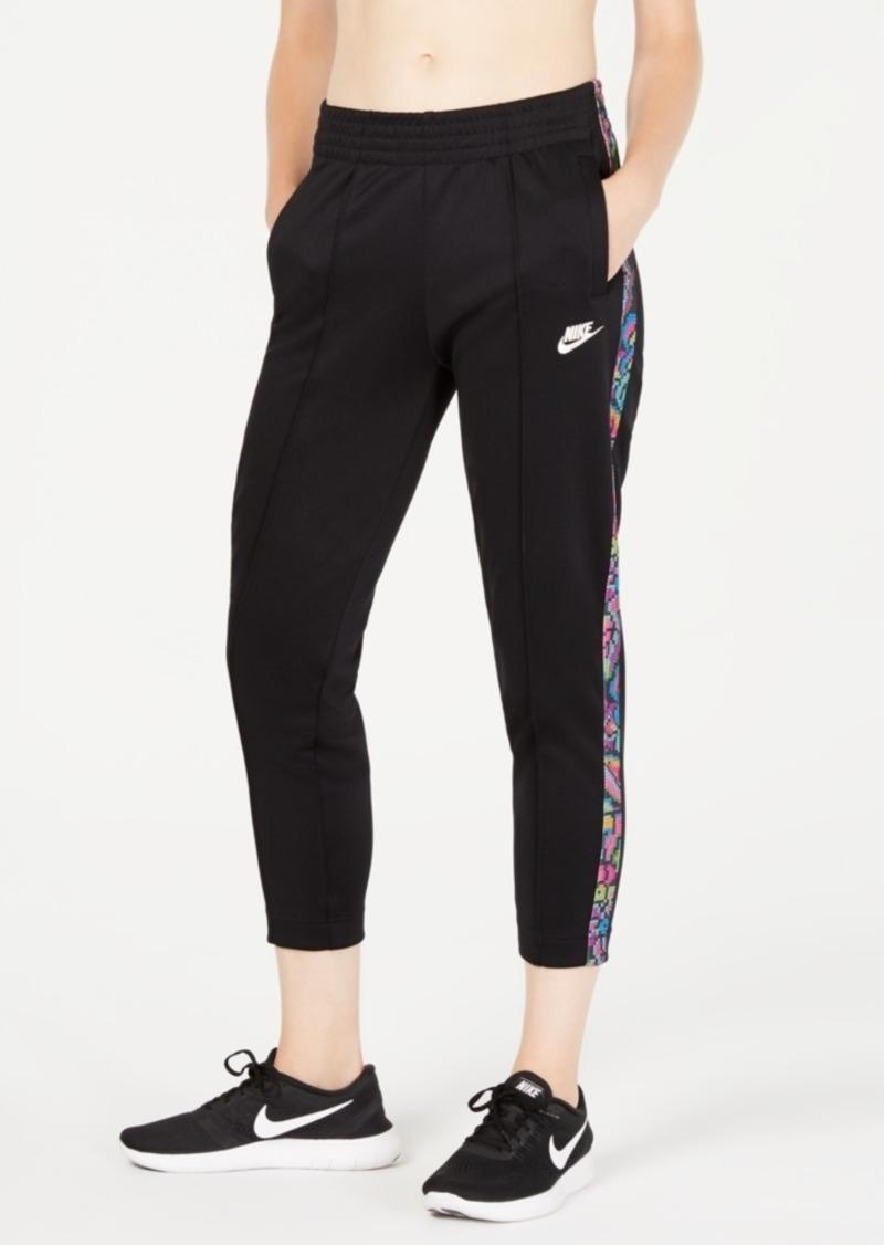 Nike Women's Sportswear Printed-Stripe High-Rise Pants