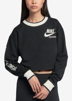 Nike Sportswear Reversible Fleece Cropped Sweatshirt