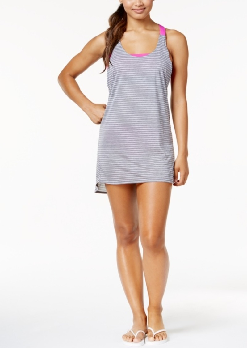 b694dd9f21 Nike Nike Striped Racerback Dress Cover-Up Women's Swimsuit Now $27.13