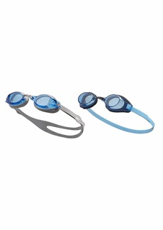 NIKE Swim Men's Chrome/Nike Proto 2-Pack Swim Goggles Blue