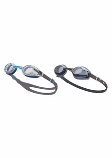 NIKE Swim Men's Hydroblast/Nike Progressor 2-Pack Swim Goggles Smoke/CLear