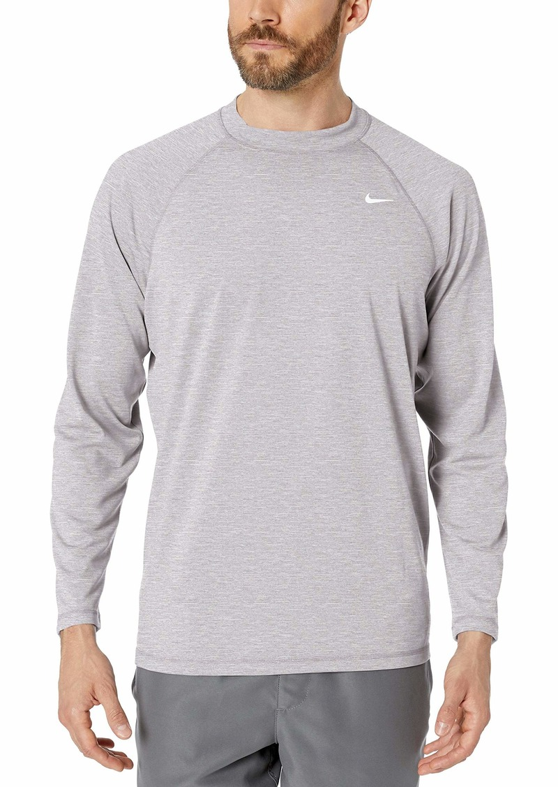 NIKE Swim Men's UPF 40+ Long Sleeve Rashguard Swim Tee gunsmoke Heather