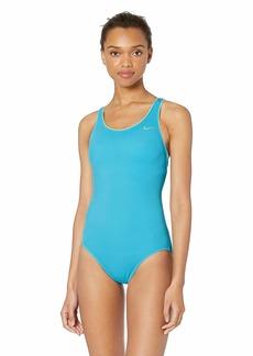 Nike Swim Women's Solid Powerback One Piece Swimsuit