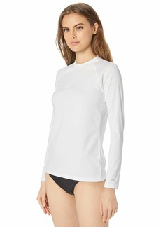 Nike Swim Women's UPF 40+ Long Sleeve Swoosh Rashguard Swim Tee