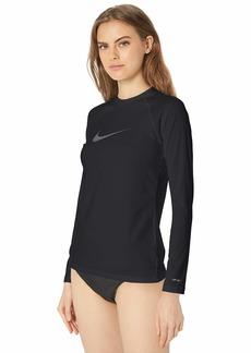 Nike Swim Women's UPF 40+ Long Sleeve Swoosh Rashguard Swim Tee