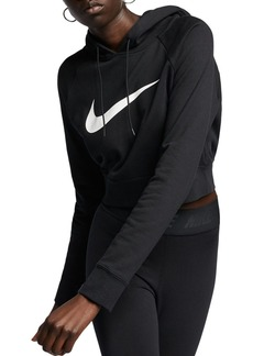 Nike Swoosh Cropped Hooded Sweatshirt