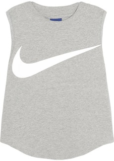 Nike Swoosh cropped stretch-cotton jersey tank