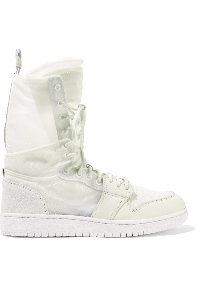 new product 578a3 797b3 Nike The 1 Reimagined Air Jordan 1 Explorer suede-trimmed leather and mesh  high-
