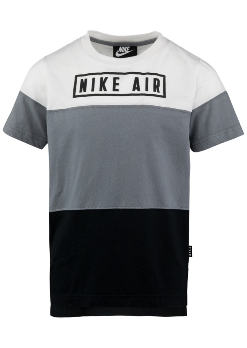 Nike Toddler Boys Air-Print Colorblocked Cotton T-Shirt