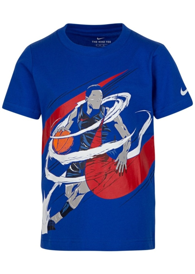 Nike Toddler Boys Basketball-Print Cotton T-Shirt