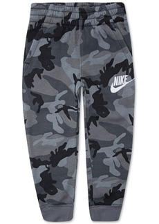 Nike Toddler Boys Camo-Print Fleece Jogger Pants
