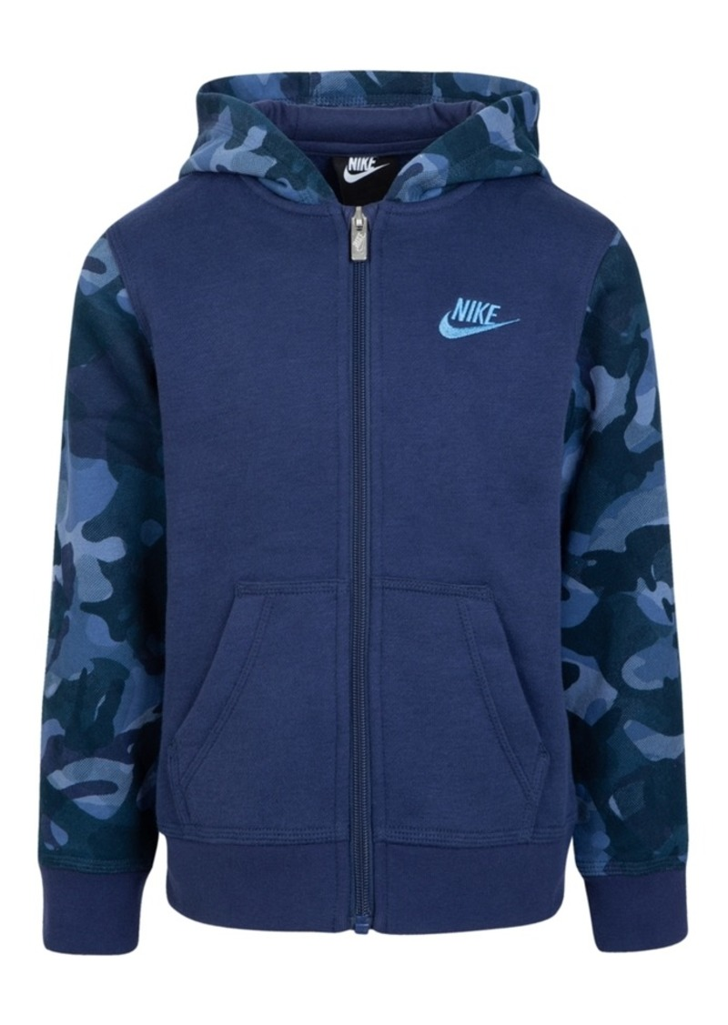 Nike Toddler Boys Camo-Print Zip-Up Hoodie