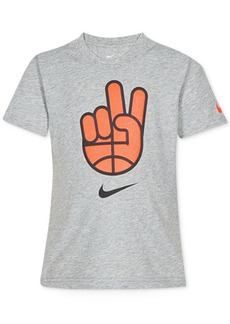 Nike Toddler Boys Dri-fit Basketball Peace Graphic T-Shirt