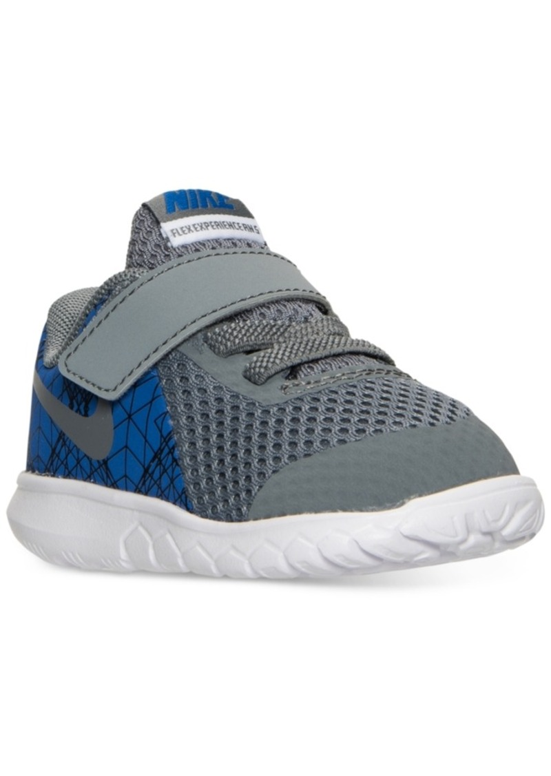 cad022955b100 Nike Toddler Boys  Flex Experience 5 Print Velcro Running Sneakers from Finish  Line