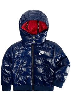 27c8f62d4e0b69 Nike Little Boys Hooded Puffer Bomber Jacket