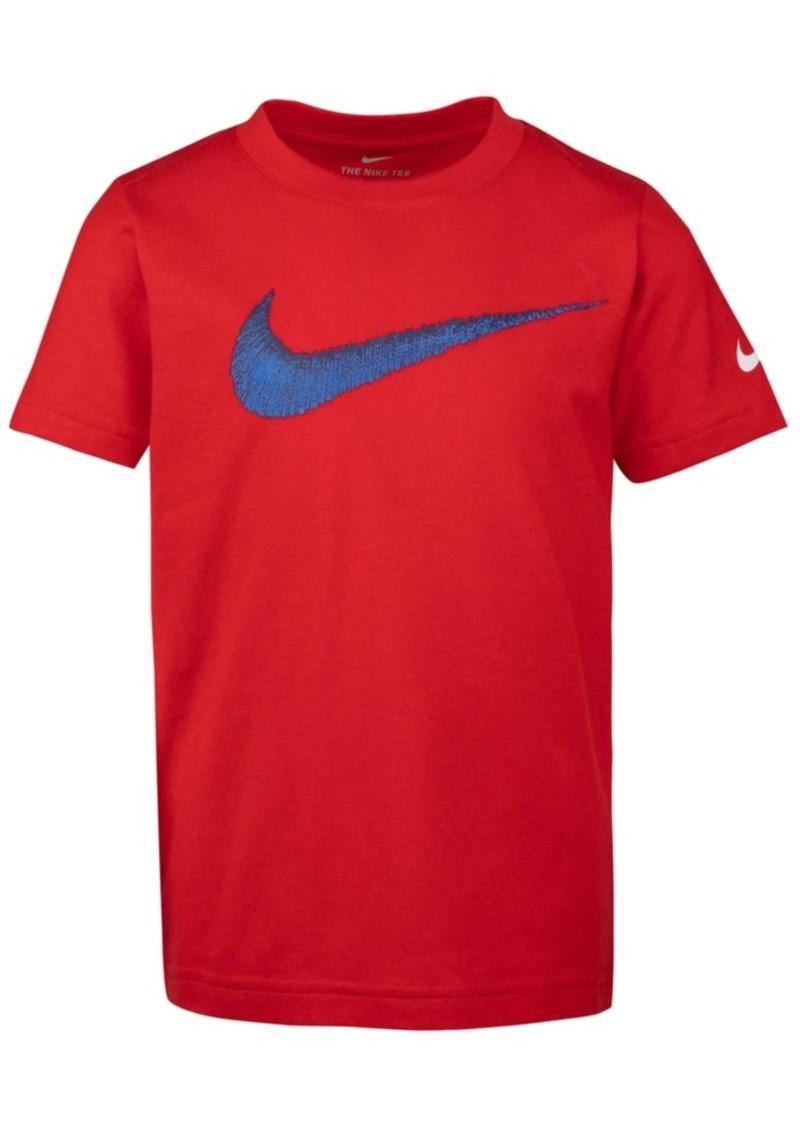 Nike Toddler Boys Swoosh-Print Cotton T-Shirt