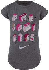 Nike Toddler Girls Awesomeness-Print T-Shirt