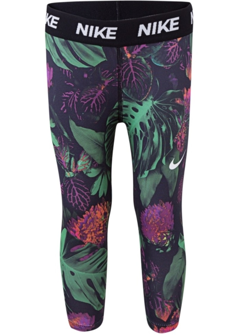 Nike Little Girls Botanical-Print Dri-fit Capri Leggings
