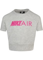 Nike Little Girls Cropped Air-Print T-Shirt