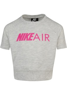 Nike Toddler Girls Boxy Cropped Air-Print T-Shirt