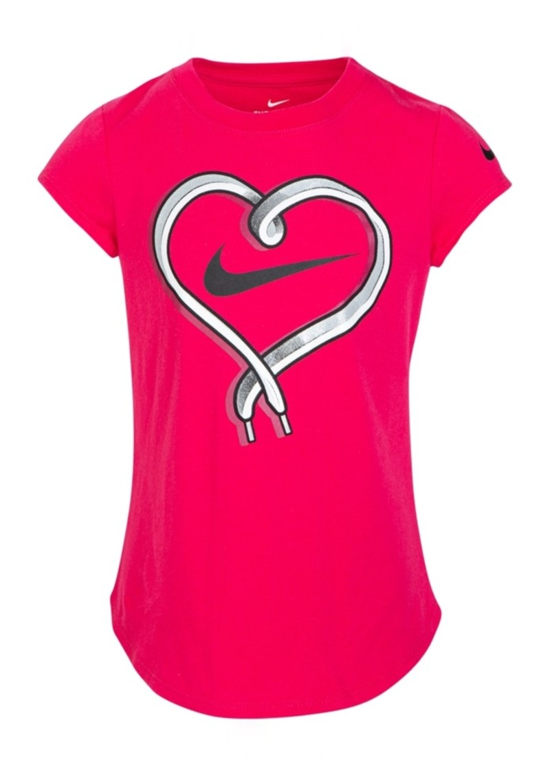 Nike Toddler Girls Cotton Shoelace Heart T-Shirt