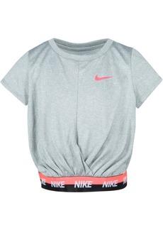 Nike Little Girls Cropped Dri-fit Logo T-Shirt