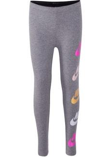 Nike Little Girls Futura-Print Shine Leggings